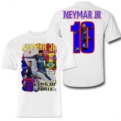 Neymar T-shirt king of Paris & Brasil
