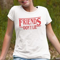 Barn vit T-shirt inspirerad av Stranger things Friends don't lie