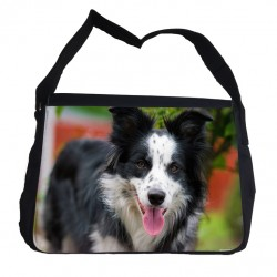 Border Collie väska med axelrem - Messenger Bag