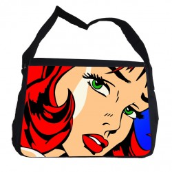 Pop art gril väska med axelrem - Messenger Bag Popart