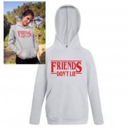 Friends don't lie barn Hoodie huvtröja t-shirt Stranger things