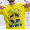 Awsome Sverige gul t-shirt - Born in Sweden