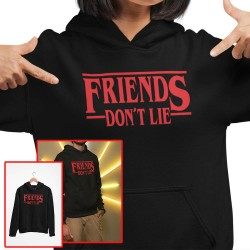 Friends don't lie barn huvtröja Stranger things hoodie t-shirt