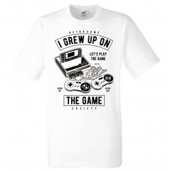 Gamer T-shirt - Retro Game , Grew up on the game