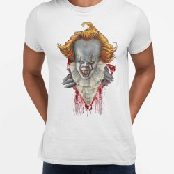 Pennywise t-shirt - Vit Halloween