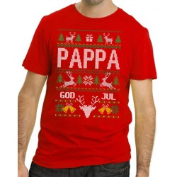 Pappa Jul T-shirt - Christmas jumper stil jultröja