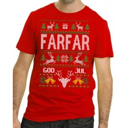 Farfar Jul T-shirt - Christmas jumper stil jultröja
