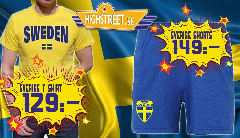 Sverige t-shirts & shorts
